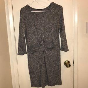 Grey mid open dress